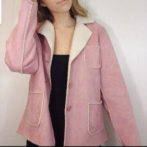 SPRING HAS SPRUNG blush super suede cute jacket